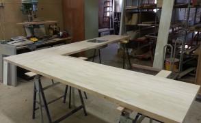 aanrechtblad rubberwood in alle maten