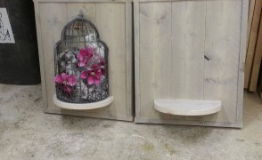 steigerhouten wanddecoratie