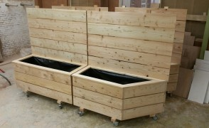 plantenbakken verrijdbaar dougles hout