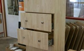 rubbberwood houten keukenkast
